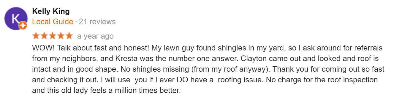 roofing company review