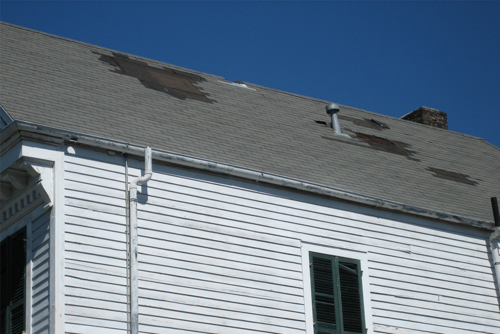 Wind damaged Shingle Roof